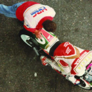 Can Akkaya with HRC technician in Zolder Circuit, Belgium 1993