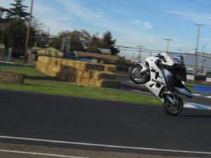 Kevin Hoang, wheelie course student