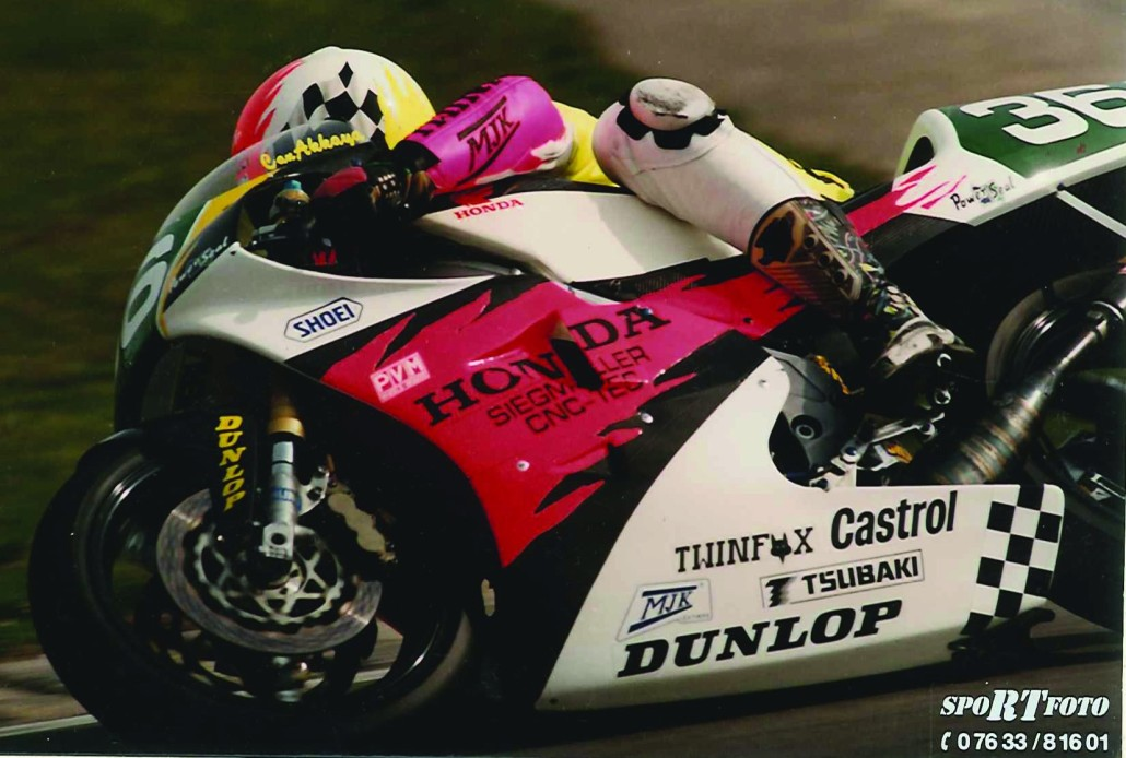 Superbike-Coach 'Crazy Can' Can Akkaya in his last racing season as a professional in 1995, Speyer Germany